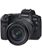 Canon EOS R pełnoklatkowy aparat systemowy - z obiektywem RF 24-105mm F4-7.1 IS STM (bezlusterkowy, 30,3 MP, 8,01 cm (3,2 cala), Clear View LCD II, 4K, DIGIC 8, Wi-Fi, Bluetooth), czarny