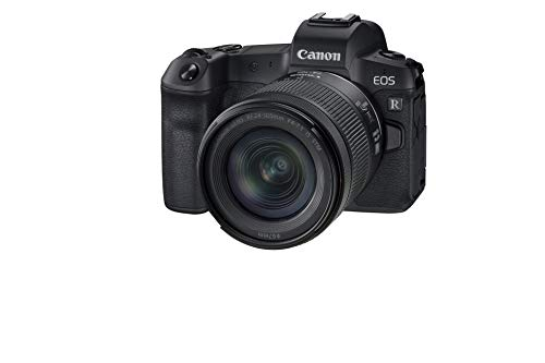 Canon EOS R Vollformat Systemkamera - mit Objektiv RF 24-105mm F4-7.1 IS STM (spiegellos, 30,3 MP, 8,01 cm (3,2 Zoll) Clear View LCD II Display, 4K, DIGIC 8, WLAN, Bluetooth), schwarz