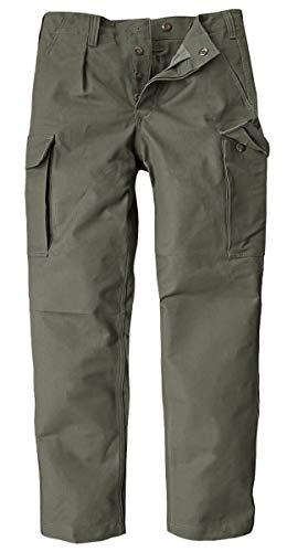BW-ONLINE-SHOP, pantaloni tattici delle forze armate tedesche, pantaloni da campo originali in tessuto moleskin oliva 34