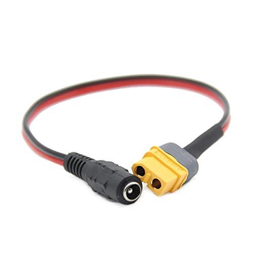 SHENSTAR 1x FPV Goggles B6 Ladegerät Akku-Ladekabel Adapter XT60 XT30 Stecker auf DC 5.5 2.1mm für Fatshark für Skyzone 03 FPV Zubehör (for XT60)