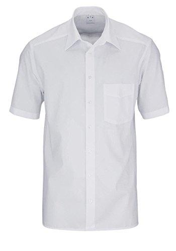 OLYMP Herren Hemd Comfort Fit Kurzarm, M (40), 40, Farbe: Weiß