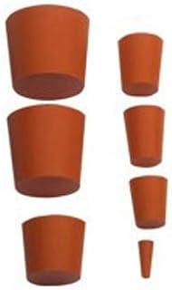 neolab 1–1016Tapón de goma, 22mm x 17mm, 25mm de alto, color rojo (10unidades)