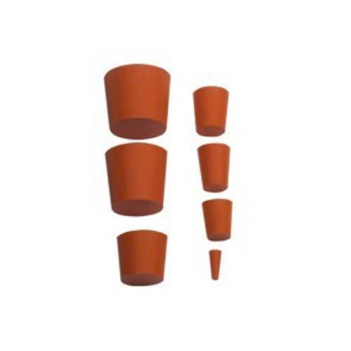 neoLab 1-1016 Gummistopfen, 22 mm x 17 mm, 25 mm hoch, Rot (10-er Pack)