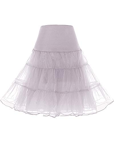 bridesmay 1950 Reifrock Petticoat Unterrock Underskirt Crinoline Rockabilly Kleid Ivory L