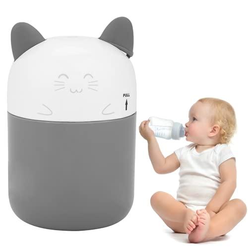 Babyflaschen-Sterilisator, tragbarer Mikrowellen-Dampfsterilisator für Baby-Stillflaschenspielzeug, Cartoon-Babyfläschchen-Boddle-Sterilisator, UV-Ozon-Dampf-Babyflaschen-Sterilisator