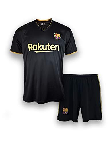 FC. Barcelona Conjunto Camiseta y pantalón Replica 2ª EQ Temporada 20/21 Infantil - Producto con Licencia - Dorsal Liso - 100% Poliéster - Talla 14 años