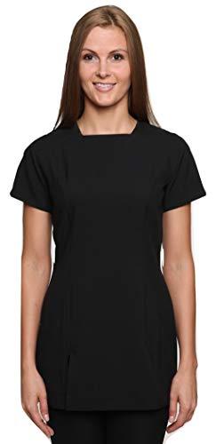 Mirabella Health & Beauty Damen Berufsbekleidung Kasack Kallista Schwarz Gr. 44