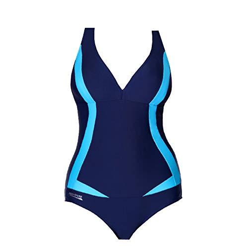 Aqua Speed Greta Bañador Mujer (3 Colores Disponibles Tallas 36-48), Color:Farbe 04 / Navy - Azul, Tamaño:44