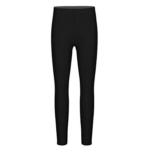 inhzoy Suave Leggings de Danza Ballet Gimnasia para Niña Elásticos Pantalones Largos de Fitness Workout Ropa Deportiva de Baile Yoga Tight Pants Negro 9-10 Años