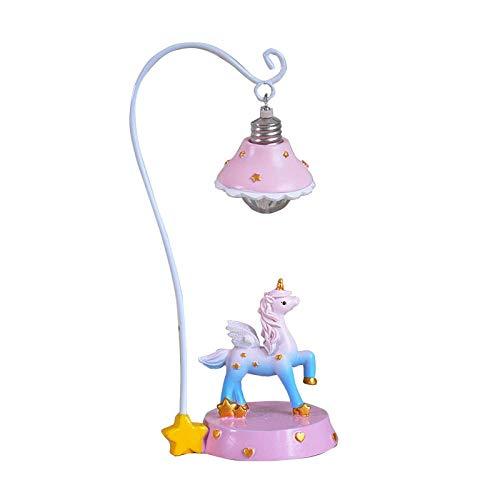 Leselamp, bedlamp, tafellamp, bureaulamp, tafellamp, hars, handwerk, in wind, eenhoorn, nachtlampje, hars, handwerk, kleine tafellamp, cadeau, studenten, creatief