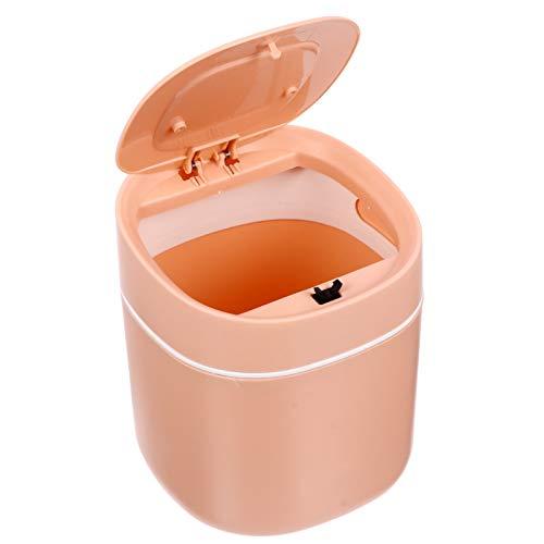 Baluue Plástico Cuadrado Mini Papelera Dispensador de Bote de Basura Barriles de Basura Cubos de Basura para Tocador de Baño Encimera de Mesa