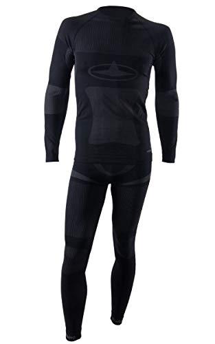 Viking dANTE pour homme nahtlostechnologie de sous-vêtement fonctionnel thermoactif respirant idéal pour ski snowboard ski de fond - L Noir - Noir