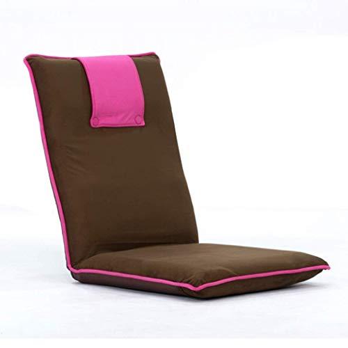 6-Fach Verstellbarer Rückenlehne Tatami Sitz Einzelnes kleines faules Sofa, Geeignet for Liegestühle im Wohnzimmer, Kinderzimmer und andere Orte (Color : Red)