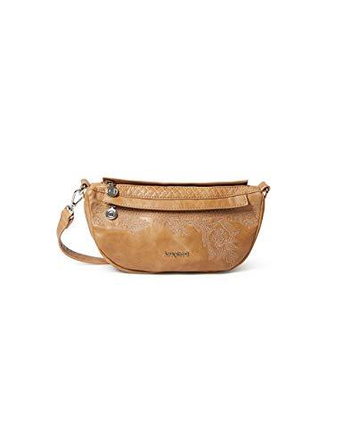 Desigual PU Shoulder Bag, Bolso bandolera. para Mujer, marrón, U