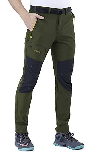 CARETOO Pantaloni Trekking Uomo Funzionali Softshell Pantaloni Invernali Impermeabili e Traspiranti Sport all'aperto Montagna Escursionismo
