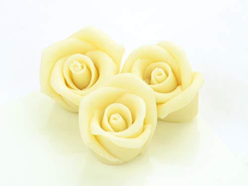 Marzipan-Rosen mittel weiß 36 Stück
