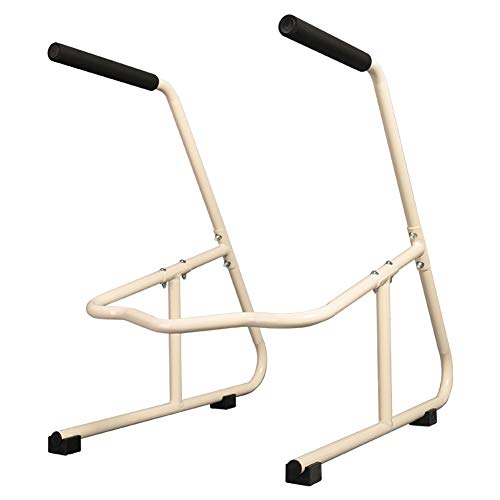 AXD Toilet Surround Rail Safety Frame,Free Standing Rails with Safety Handles for Elderly Handicapped Disabled, No Floor Fixing Feet