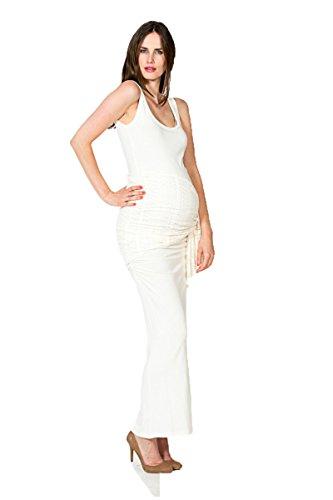 Nitis Umstandsmode Kleid Auril elegant Bezaubernd Umstands-Brautkleid Bodenlanges Hochzeitskleid (S (34-36), Kleid ohne Jäckchen)