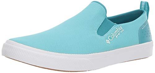 Columbia PFG Women's Dorado Slip PFG Boat Shoe, Clear Blue, White, 6.5 Regular US