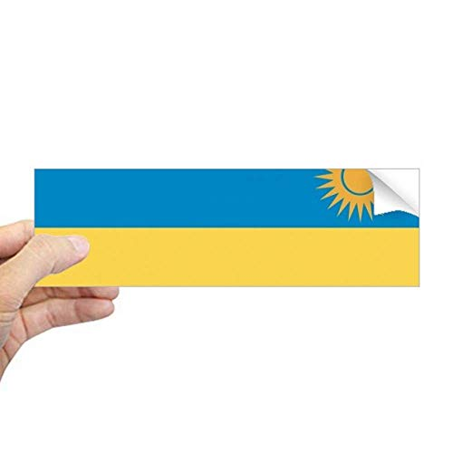 DIYthinker Rwanda Nationale Vlag Afrika Land Rechthoek Bumper Sticker Notebook Window Decal