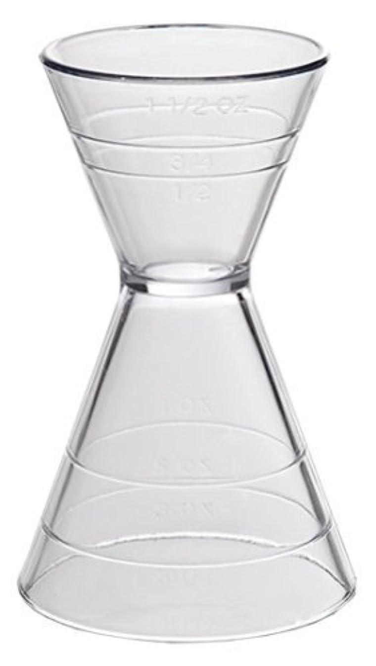 Clear Plastic Super Double Jigger Shot Glass Mixed Drink Measurer