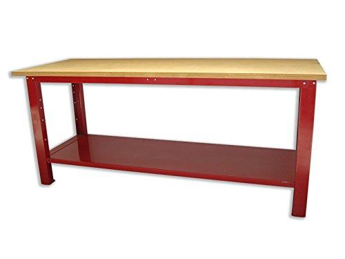 Banco lavoro tavolo per officina con piano in legno 2000x750x880 serie industria SOGI X3L-11