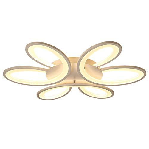 Lampara LED regulable, moderna, lampara de techo para salon con mando a distancia, lampara de techo de aluminio acrilico creativo, lampara de techo LED para salon, dormitorio, comedor, mesa de comedor