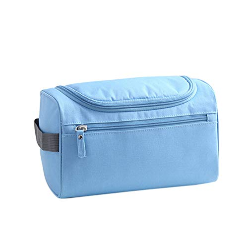 LXJL Cas cosmétiqueNew Fashion Lady Cosmetic Bag Nylon Waterproof Cosmetic Storage Bag Travel Cosmetic Bag Wash Cosmetic Case Sky Blue