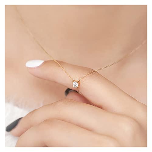 zlw-shop Collar de Mujer Trendy 925 Sterling Silver O Change de Cadena 0.3 cm / 0.4 cm / 0.5cm Colgante Colgante Collar de Regalo de Boda joyería Fina Collares Pendientes (Color : 5mm Gold)