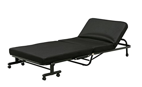 アイリスオーヤマ ベッド 折りたたみベッド シングル 収納 低反発 14段階リクライニング ブラック OTB-TR