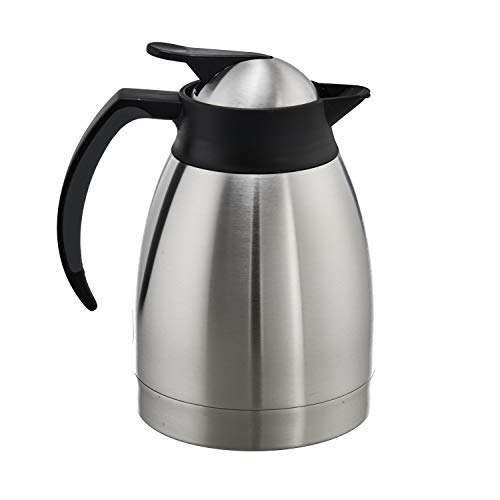 Steinbach Isolierkanne Frisola 1,0 l | Thermoflasche | Thermokanne | Kaffeekanne | Edelstahl