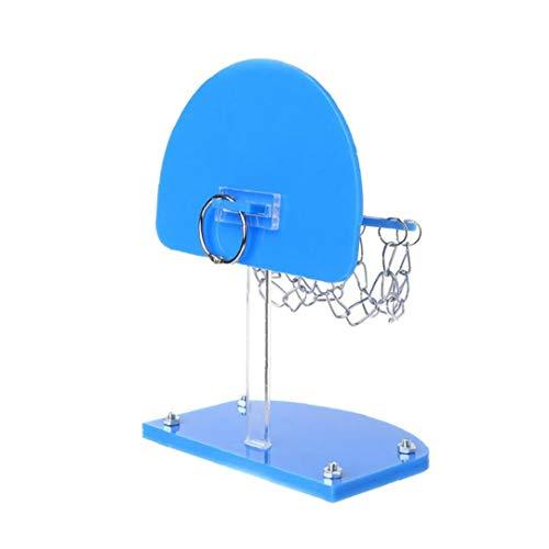 hjgnbiohg Bird Inteligencoa Mini Baloncesto Estante del Juguete Capacitación para Mascotas Loro Perico Cacatúas Jaula De Hueso De Juguete para Mascotas Suministros Bites (Azul) 1pc