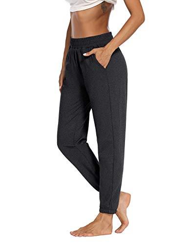 Sarin Mathews Womens Active Joggers Pants Yoga Sweatpants Running Workout Lounge Pants for Women with Pockets Darkgrey L