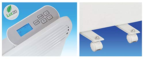 Prem-i-air Slimline, Wall and Floor Mounting Programmable Panel Heater With Silent Operation (Lot 20 Compliant) 0.5 kW