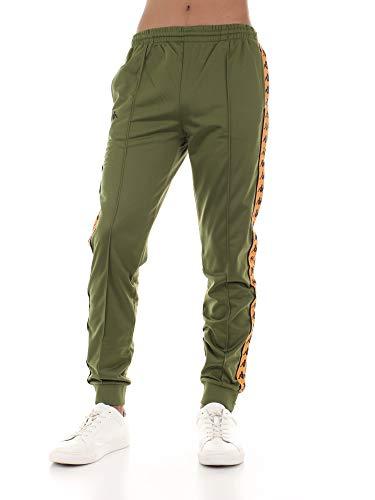 Kappa 303KUC0 Pantalone Uomo Verde/Arancio L