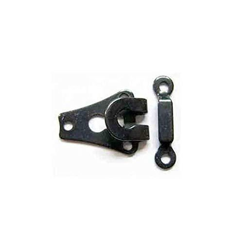 Hosen-Haken und -Stab–2Paar, 9mm, schwarz