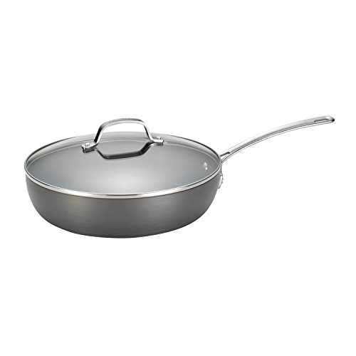 Large skillet with lid