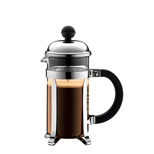 Bodum Chambord French Press Coffee and Tea Maker, 12 Oz, Chrome
