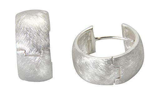 Klapp Kreolen Silber Goldschmiedearbeit (Sterlingsilber 925) - Silbercreolen 16x7,5 mm