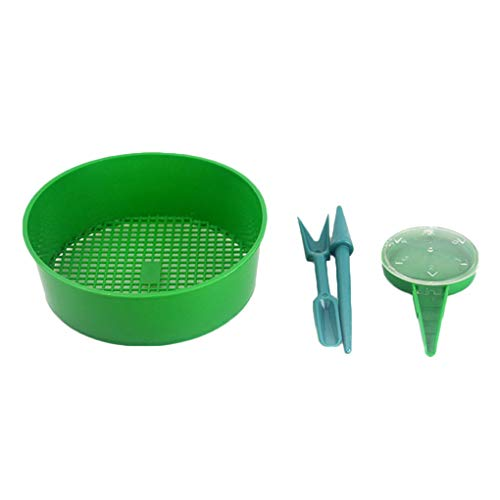 Review 4Pcs Sowing Tools Seed Dispenser Sifting Pan Sower Seed Sowing Tools Spreaders Planter Seeder...