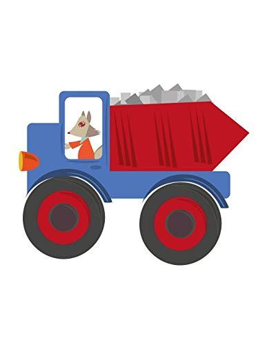 Sticker enfant: Camion Bleu - Format : 100 x 86 cm