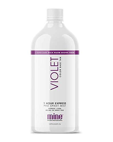 MINETAN BODY.SKIN Spray Tan Solution - Violet Pro Spray Mist - Salon Professional 1 Hour Express Tan For A Rich, Warm Super Dark Tan, 33.8 fl oz