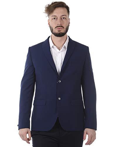 Daniele Alessandrini - MANNJACKE G2309S18133701 Blaue Jacke Balance FOD 54