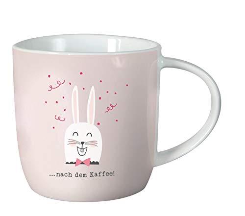 Grafik-Werkstatt 61426 Kaffeetasse mit Spruch 300 ml | Porzellan Tasse lustig | nach dem Kaffee