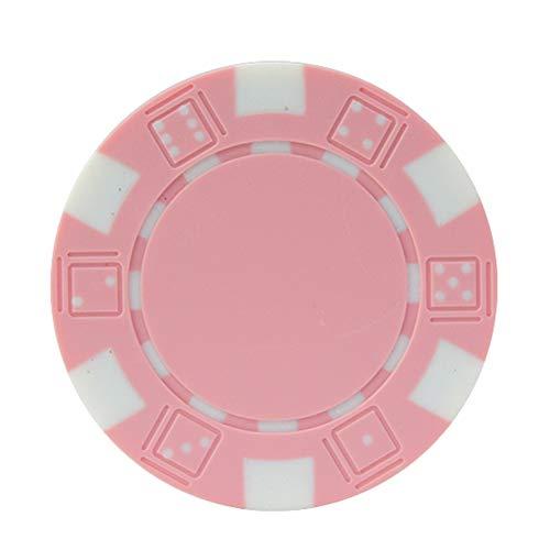 GFPR 30 pcs spielchips, 40 * 3,3 mm Poker Chips, Chips Karten für Casino-Unterhaltung, Club-Punkte, Party-Urlaub, Aktivitätspunkte Pink