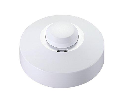 Garza Power - Detector de Movimiento Microondas de Techo, ángulo de Detección 360º, color Blanco