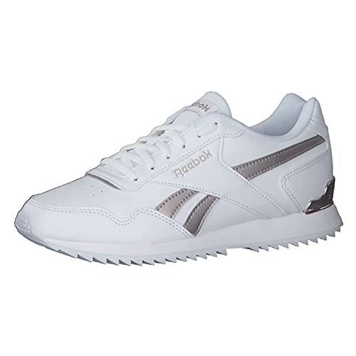 Reebok Royal Glide Ripple Clip, Zapatillas de Running Mujer, FTWBLA/QUAMET/FROBER, 35.5 EU