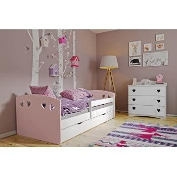 Children's Beds Home - Cama Individual Bella - Para Niños Niños Niño Niño Junior - Bella - 180x80, Rosa, No, 8 cm Espuma / Coco Colchón
