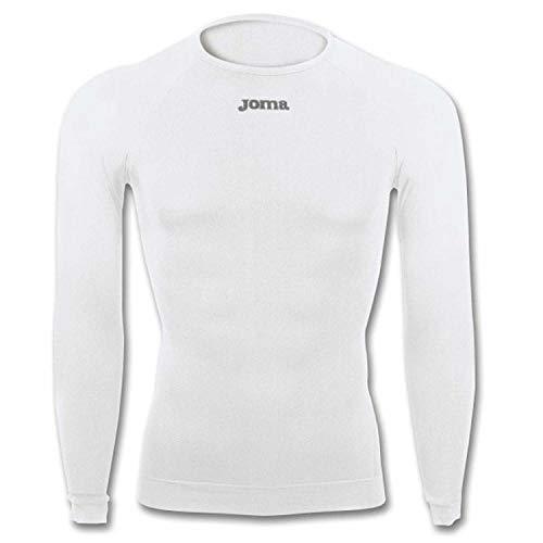 Joma Brama Classic - Camiseta térmica de manga larga para hombre, color blanco, talla S-M
