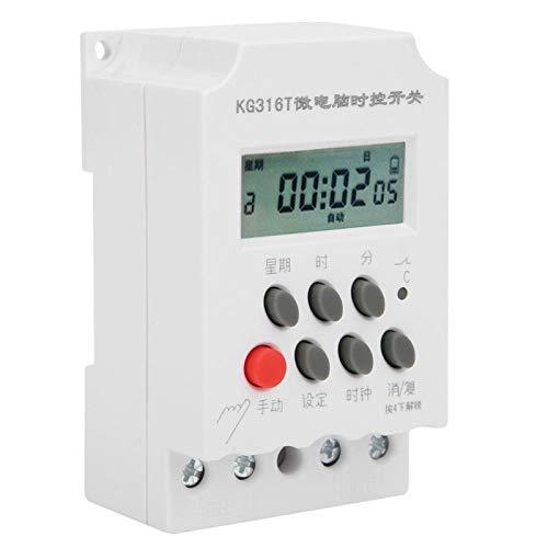 Interruptor de temporizador digital LANTRO JS -KG316T, interruptor de tiempo de control de temporizador de microordenador digital LCD de 220 V, controlador de tiempo electrónico programable